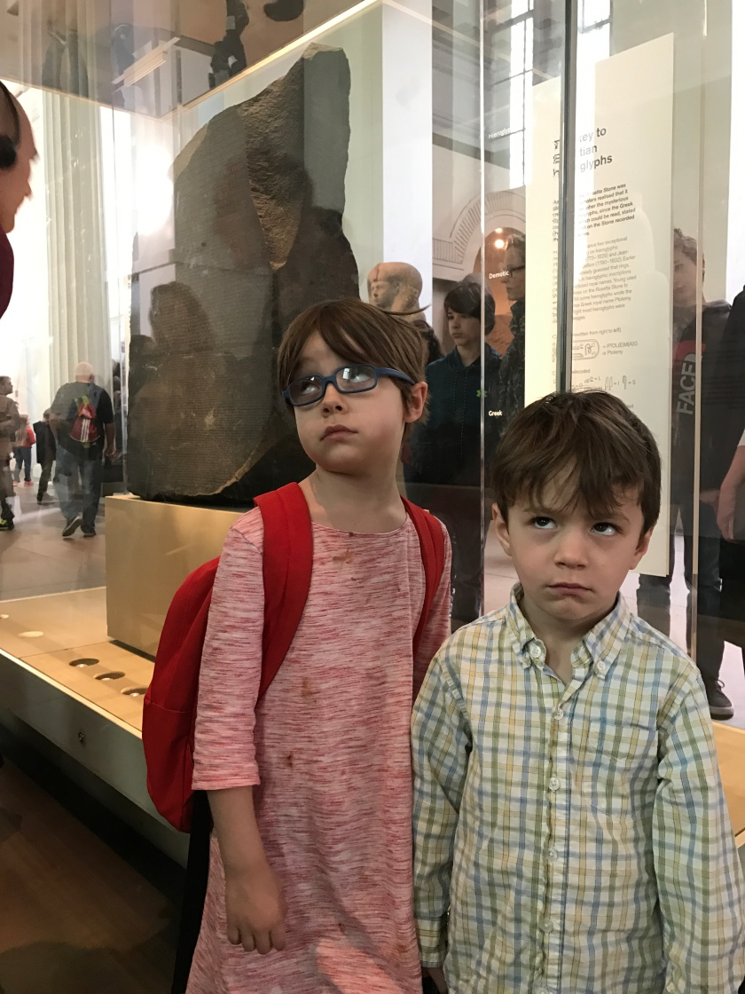 My kids rolling their eyes in front of the Rosetta Stone as I'm trying desperately at culturing my kiddos.