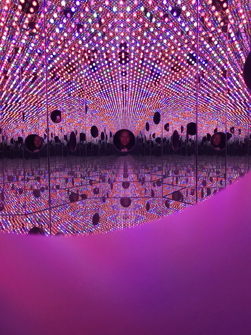 Kusama's tiny room of endless reflection and color.
